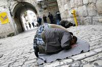 Muslims Praying in Jerusalem