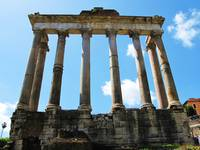 The ruins of the Temple of Saturn - Roman Forum