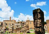Roman Forum panoramic photo of temples and ruins