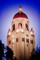 Hoover Tower Blue Night