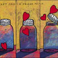 """""""Heart Frees A Friend To Fly"""" by richardstine"""