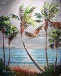 Tropical Lagoon by Mazz Original Paintings