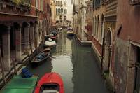 Venice Canal Red Boat