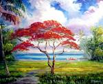 Royal Poinciana Lakeview by Mazz Original Paintings