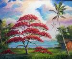 Royal Poinciana Lakeview Shack by Mazz Original Paintings