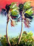 Palm Trees from Mazz Rio Mar Painting by Mazz Original Paintings