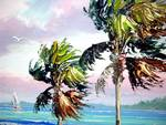 Indian River Wind Sailboat by Mazz Original Paintings