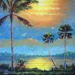 Sun Glow Tropical by Mazz Original Paintings