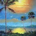 Sun Glow Tropical by Mazz Original Paintings