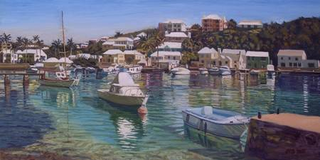 Flatts Village and Boats