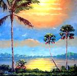 Tropical Sun Glow by Mazz Original Paintings