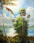 Tropical River Sailing by Mazz Original Paintings