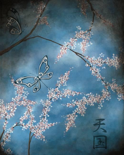 cherry blossom japanese art. Contemporary cherry blossom