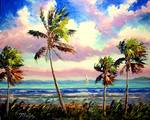 Colorful Tropical Wind by Mazz Original Paintings