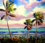 Colorful Tropical Wind Close Up by Mazz Original Paintings