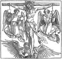 Christ on the Cross with Three Angels
