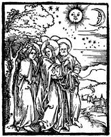 Christ Shows the Disciples the Signs in the heaven