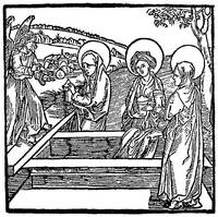 The Three Marys Visit Christ's Grave