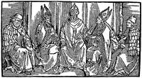 Three Bishops & Two Monks