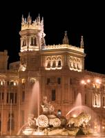 Plaza de Cibeles, Madrid at night