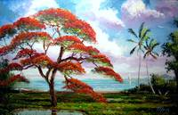 Blooming Royal Poinciana Painting