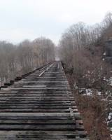 Rosendale Train Trestle - Winter