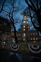 Independence Hall Lights Up