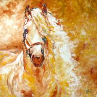 GOLDEN GRACE ANDALUSIAN by M BALDWIN FINE ART by Marcia Baldwin