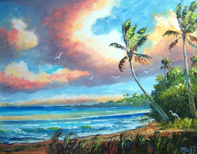 Tropical Beauty by Mazz Original Paintings in Seascapes on MAZZ ART
