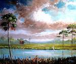 Florida Ranch Country by Mazz Original Paintings
