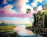 Blue Heron Cove by Mazz Original Paintings