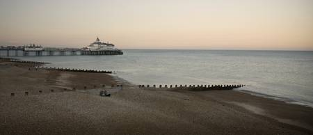 Eastbourne pier - two girls