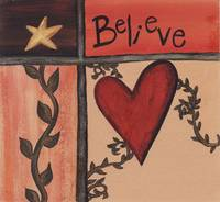 Believe - Primitive Folk Art