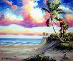 Tropical Beach Rio Mar by Mazz Original Paintings