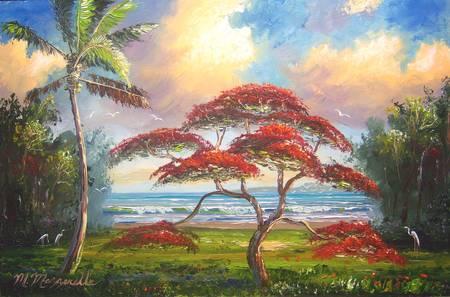 Royal Poinciana Tree Art