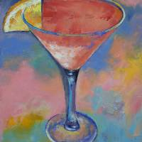 Martini with Lemon Art Prints & Posters by Michael Creese
