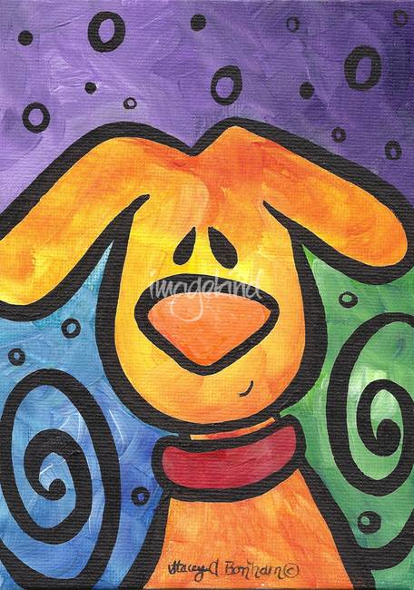 Whimsical Puppy Dog with a Smile