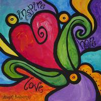 Inspire, Hope, Love - Whimsical Heart