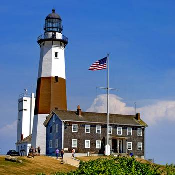 Full View of the Montauk Point Lighthouse & Museum by New Yorkled