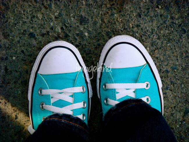 Turquoise Converse by Kimberly Welker Kansas City