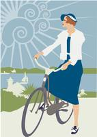 Cycle Holiday Travel Poster