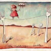 The Tightrope walker Art Prints & Posters by Lucia Masciullo