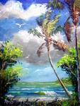 Beach Cove by Mazz Original Paintings