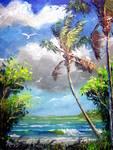 Beach Cove by Mazz Original Paintings