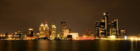 Detroit Skyline (panorama)