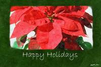 Red Poinsettias 1 - Happy Holidays