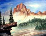 Mountain Ledge by Mazz Original Paintings