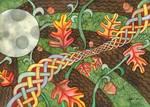 Celtic Harvest Moon by Kristen Fox