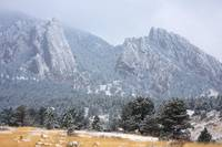 Snow Dusted Flatirons