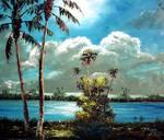 Moonlit Sky by Mazz Original Paintings